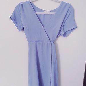 Nordstrom Lush Light Blue Olivia Wrap Dress